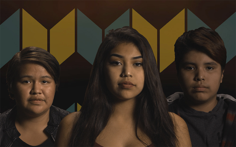 three indigenous young people