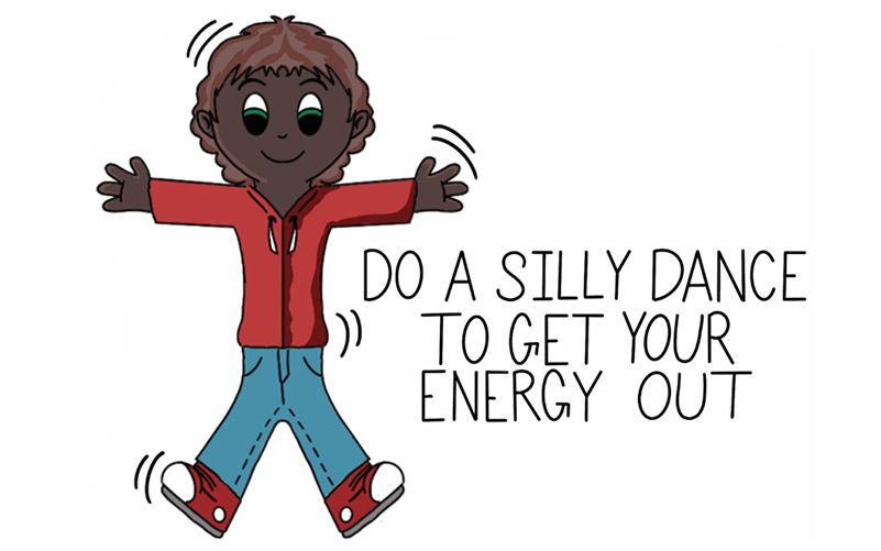 drawing of a kid doing a silly dance