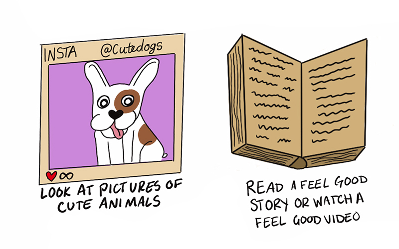 drawing of a puppy and a book