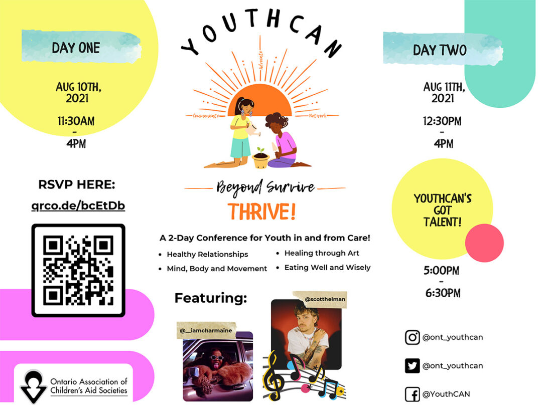 Event Poster for Youthcan Conference 2021