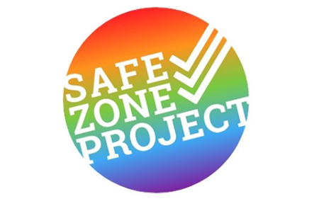 rainbow circle logo of the Safe Zone Project
