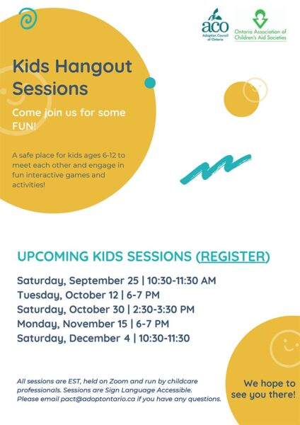 Kids Hangout Sessions poster